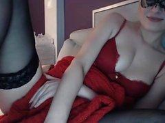 Nice lingerie and masturbation