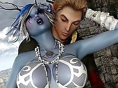 3D Busty Elven Witch Sex Fantasy!