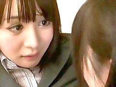lesbiana adolescente asiático escuela japonés