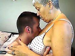 big boobs oma hd