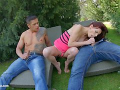 Gonzo creampie action with Susana Melo by All internal