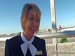 Stewardess Flight Footjob