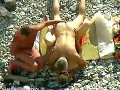 amatör strand offentlig nakenhet