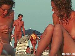 Nudist Lesbian Couple Beach Voyeur Spy Cam HD Video