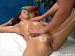 Jenna Rose seduced and fucked hard by her massage therapist