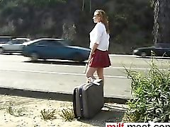 Schoolgirl hitchhiker made into sex slav - Meet her on MILF-