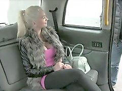 Busty passenger gets her asshole pounded by nasty driver