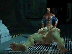 Hulks fuck rage with spiderman