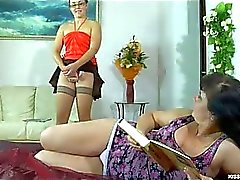 Chubby mom seduced by her younger girlfriend