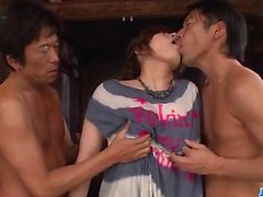 Ririsu Ayaka jizze on face after rough fucking