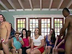 Clothed amateur party bitches