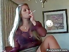 Slutty blond bimbo stripping part6