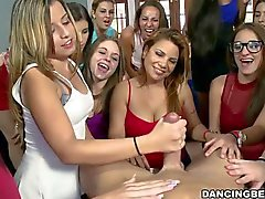 Sexy strippers get their sexy schlongs devoured