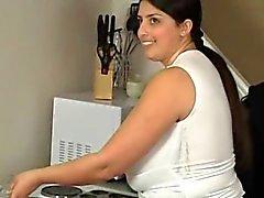 Sweet Big Boob Arab BBW MILF Playing