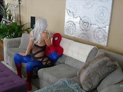 bryci stor boobs butt canadian bryci black katt cosplay spiderman