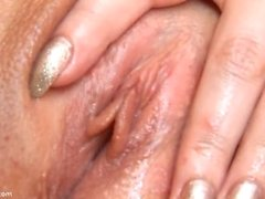 young Ariana undressing and masturbating (close-up)anal beads