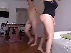 Homemade boobed blonde fucks on homecam