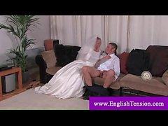 Transvestite bride loves whipping