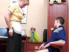 matura russo calze