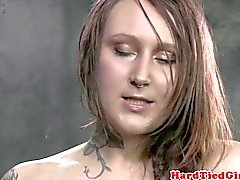 Tattood submissive follows dom instructions