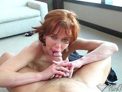 veronica avluv couple le sexe oral roux