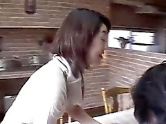 Yuki Mori gets a lot of cum in mouth from sucking two