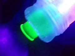 Glow in the Dark condom, Fleshlight fucking cumplay