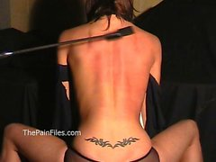 Busty Danii Blacks breast whipping and bareback hellpain