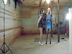 Full figured beauty as a bondage slave