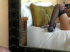 Sophia Knight gorgeous in stockings