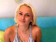Sexy Blonde Beach Babe