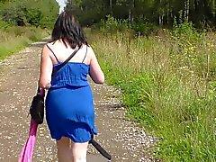 amateur madura desnudez pública
