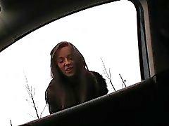 Hitchhiker teen Gina Devine public sex