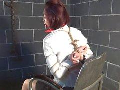 chinois esclavage ballgagged bâillonné brunette