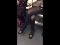candid Beautiful assian Lady on Subway