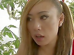 TS cheerleader Venus Lux seduces referee