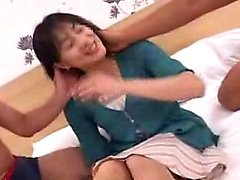 Lustful Japanese lady has two boys fulfilling her desires o