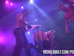 Norwegian MonicaMilf Live on stage at Sexhibition