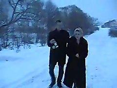 Young boy fucks russian drunk mature women