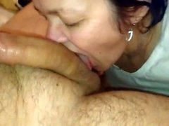 Homemade mature amateur slut doing a big cock
