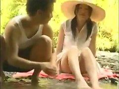 asiático bebê japonês ao ar livre