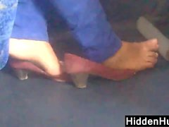 Looking At These Bare Feet On The Bus