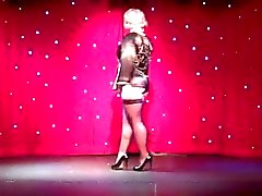 Burlesque Striptease by Perfect Nordic-Western Blonde Woman