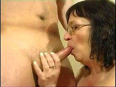 Mature amateur wife full blowjob with cumshot in mouth