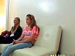 Realsex amateurs ffm at casting couch x