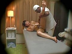 Japanese wife fucked by black masseur