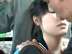 asiático público paja sexo oral japonés