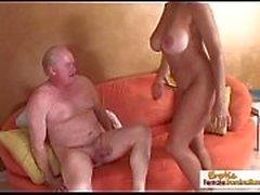 Big tit cougar fucks the referee