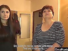 morena dedilhado avó lésbica lamber