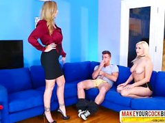 Clumsy MILF Julia Ann And Kylie Page In Threesome
